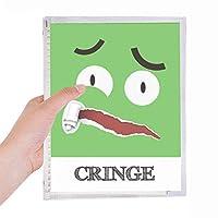 怖い緑の恐怖感情 硬質プラスチックルーズリーフノートノート
