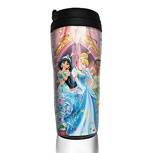 Snow White Rapunzel - Taza de café reutilizable aislada para bebidas calientes frías y calientes té y cerveza