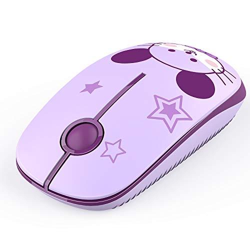 Jelly Comb 2.4G Maus Schnurlos Wireless Kabellos Optische Maus mit USB Nano Empfänger für PC/Tablet/Laptop und Windows/Mac/Linux (Maus)