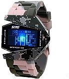 Fitness Tracker wasserdichte Sport Smartwatch Funktionelle wasserdichte LED Elektronische Uhr Sport Bunte Leuchtende Ära Kämpfer Cool Beliebte Uhren Sport Fitness Tracker-F.