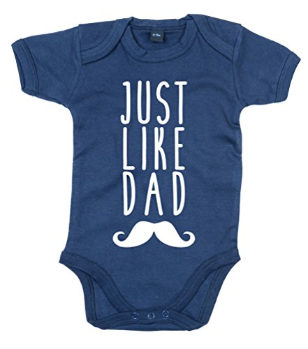 Edward Sinclair 0-3 Months Navy Bodysuit Just Like Dad with White Print