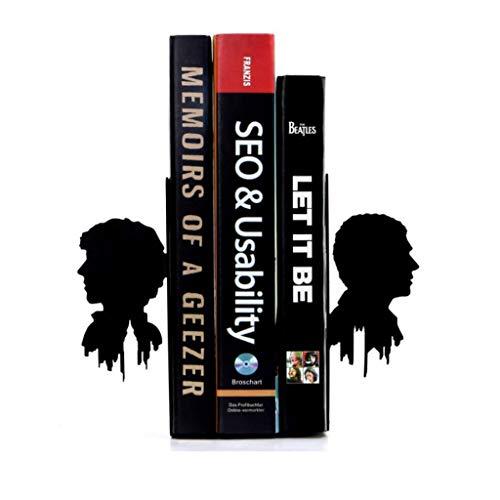 YANYAN Sujetalibros Escuela de Porta Libros Libro Termina Heavy Duty sujetalibros sujetalibros de Metal Creativa Libro Termina Estudiante Oficina de la decoración del hogar Regalo Sujeta Libros