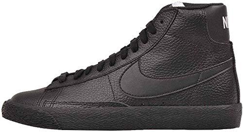 Nike Kids Blazer Mid GS, Black/White-White Size 5 US