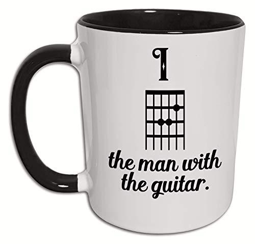 Gitarre Tasse, Gitarristen Geschenke für Männer, Akkord Insider Musik Spruch, Bandmitglied, Musiker, Gitarrenspieler, Gitarrenlehrer Geschenk, Kaffeetasse, Kaffeebecher