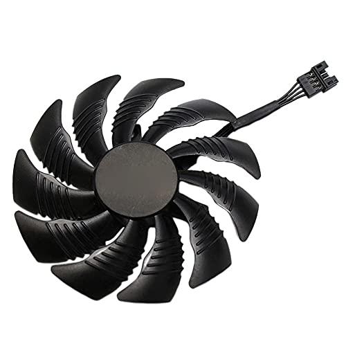 Kaxofang Ventola per Scheda Grafica con Dispositivo di Raffreddamento GPU da 88 Mm per REDEON AORUS RX580 / 570 GIGABYTe GV-RX570 AORUS GV-RX580AORUS (1 nel Senso Orario)