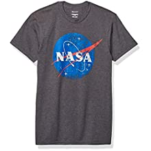 Hanes Men's Graphic Tee-Americana Collection, Slate Heather/Blue, X Large