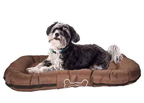 Premiumshop321 Dogs Luxury Outdoor Hundebett Rocky 50x80 cm B-Ware (Braun)