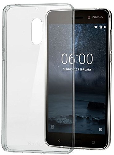 Nokia CC-101, Custodia sottile in TPU per Nokia 6, Trasparente