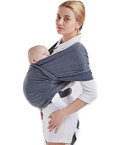 Faja portabebé de 0 meses a 3 años - Faja portabebés de algodón ligero y transpirable de alta calidad hasta 15 kg - Baby Wrap para mantener a tu bebé seguro