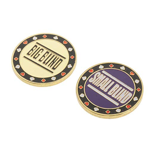 2Pieces Dealer Chips Blind Texas Holdem Blackjack Ruleta Juego Accs Partes