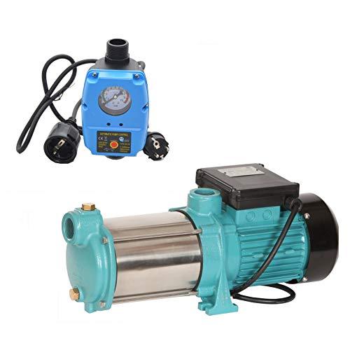 Kreiselpumpe Gartenpumpe MHI 1300INOX Watt 6000 L/h m. Steuerung AquaLine SK02