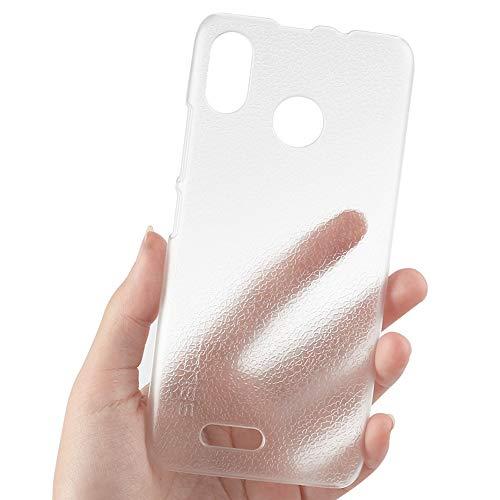 Ycloud Funda Libro para Ulefone S9 Pro, Superficie de la Textura PC Contraportada de Hard Coverage Protective Cubierta Protectora para Ulefone S9 Pro - Blanco Transparente
