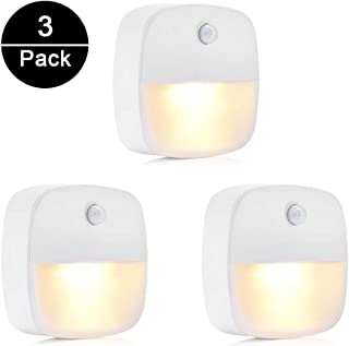 Luz Nocturna, unibelin 3pcs Lámpara Nocturna con Sensor