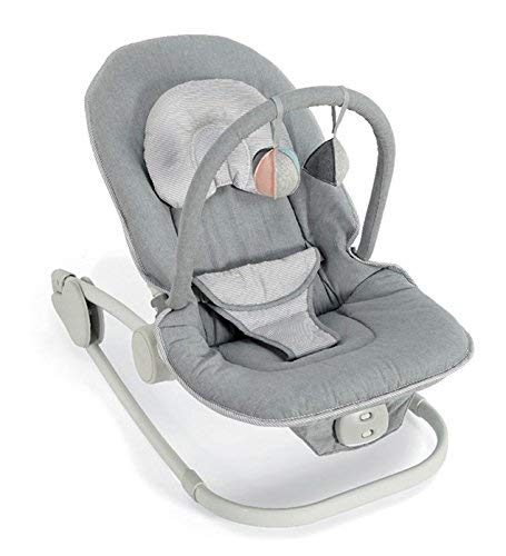 Mamas & Papas Wave Rocker Baby Bouncer Chair, Rocking Cradle - Grey Melange