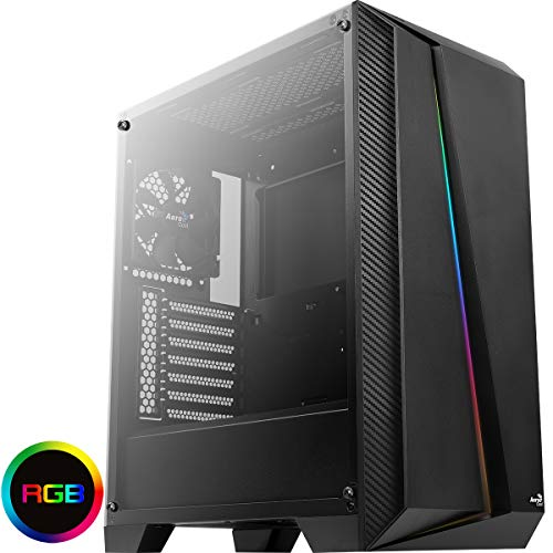 Aerocool Cylon Pro-G V2 RGB Case Middle Tower Tempered Glass Black