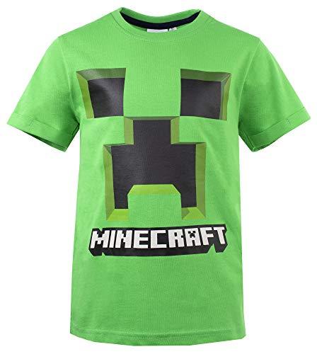 Global Brands Group T-Shirt Minecraft Originale Creeper Verde Maglia Maglietta Videogioco Videogames Ufficiale (10 Anni)