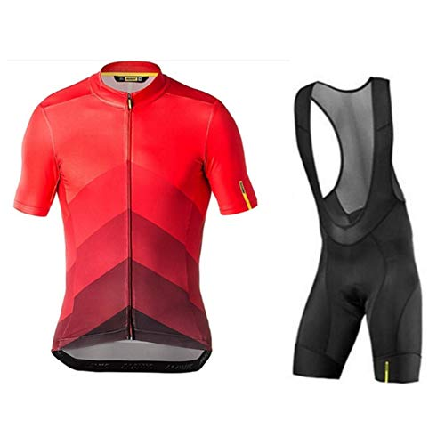OHGGB Unisex Summer Short Sleeve Cycling Jersey Set with 9D Gel Padded Bib Shorts for All Levels of MTB Cyclist from Beginner to Pro,A,M