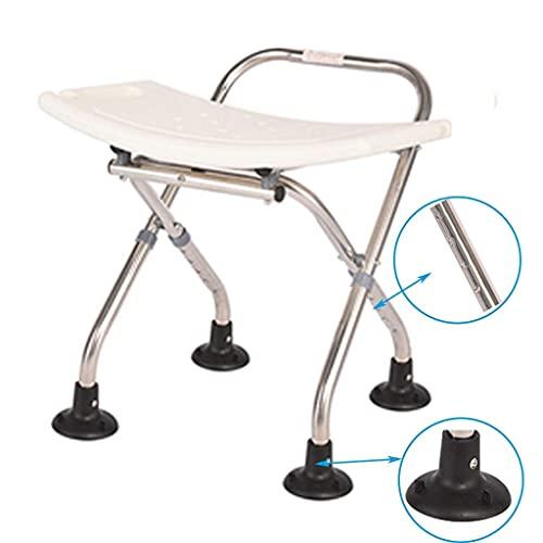 WECDS-E Taburetes de baño Asiento de Silla de Ducha Ajustable,con Puntas de Goma Antideslizantes,para discapacitados,PersonasMayores,bariátrico
