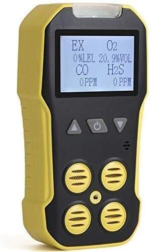 BXU-BG Tragbare 4 in 1-Gas-Detektor tragbaren Multi-Gas-Detektor-Monitor USB-Auflade-Gas Analyzer mit Ton, Licht Vibrationsalarmen, großen Display-Hintergrundbeleuchtung
