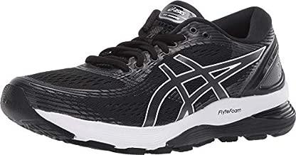 ASICS Women's Gel-Nimbus 21 Running Shoes, 11M, Black/Dark Grey