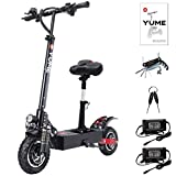 Yume D5 Powerful Dual Motor Electric Scooter for Adults, 52V 2400W 10' Off Road Tires E-Scooter, Up to 40 Mile & 40 MPH Fast Kick Scooter, 330lbs Max Load Folding Scooter with Seat