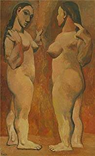 The High Quality Polyster Canvas Of Oil Painting 'Two Nudes-Pablo Picasso,1906' ,size: 30x49 Inch / 76x125 Cm ,this Cheap But High Quality Art Decorative Art Decorative Canvas Prints Is Fit For Gym Gallery Art And Home Gallery Art And Gifts