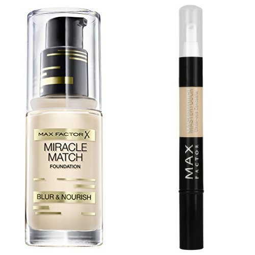 Max Factor Miracle Match Foundation 40 Light Ivory plus Max Factor Mastertouch Concealer 303 Ivory