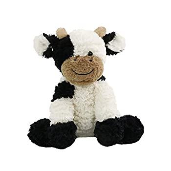 HooYiiok Cow Stuffed Animals Cute Adorable Soft Plush Cow Toy Great Birthday Gift for Kids 9 inches