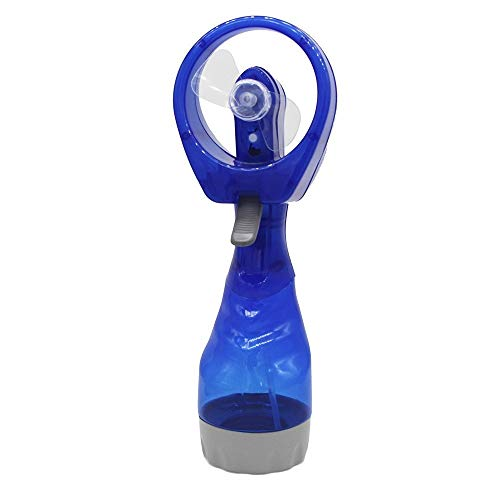 Creative fan Jiale Portable Mini Handheld Fan-HJCA1906153 Water Spray Atomizing Fan With Bottle, Toy Battery Power Personal Cooling Fan Suitable For Travel Beach (blue) The best helper for home office