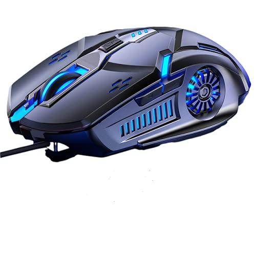 Raton Gaming con Cable USB , Ratones ergonomico de Juego 6 Botones...