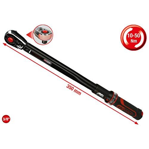 KS Tools 516.1522 3/8 inch ERGOTORQUEprecision ratel-draaimomentsleutel, 10-50 Nm