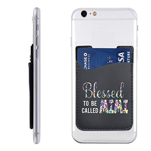TosaWCAP Blessed to Be Called Mom Mimi - Tarjetero de piel para teléfono móvil