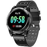 GOKOO Smartwatch Deporte Hombre, Pulsera Inteligente Monitores de Actividad Impermeable IP67 con Monitor de sueño Pulsómetros Podómetro Contador de Caloría Compatible con iOS Android (Negro 2)