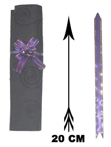 Mondial-fete - 10 noeuds à tirer lavande 5 cm