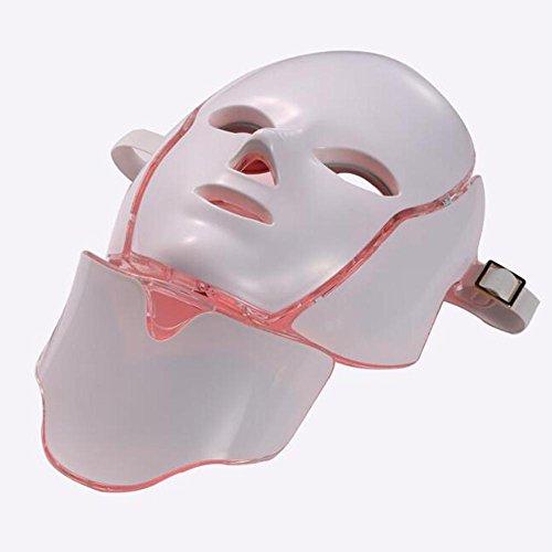 bpblgf F LED Photon Therapie 7 Loterij Verjonging Whitening Behandeling Gezicht Schoonheid Dagelijkse Huidverzorging Masker - Nek Masker