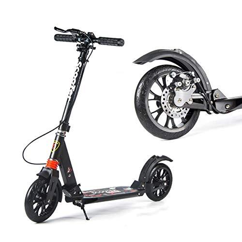 Scooter de pie Scooter de dos ruedas for adultos plegables Cercanías scooters con ruedas grandes, regalos de cumpleaños for las mujeres / hombres / Adolescentes / Niños, no eléctricos, hasta 100 kg Sc
