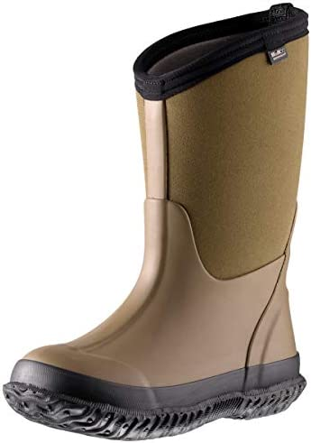 MCIKCC Kids High Waterproof Rubber Rain and Snow Boot Multiple Color Options 1 M Army Green product image