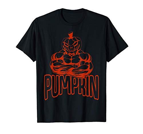 Disfraz de halterofilia de calabaza para Halloween Camiseta