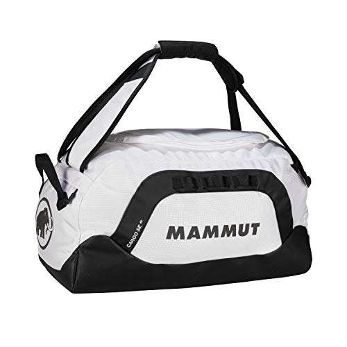 Mammut Cargo SE 40 Travel/Sports Bag - Robust travel bag with wide handles - abrasion-resistant bottom, 3 organisation compartments in main compartment, light-reflecting logo - black-white