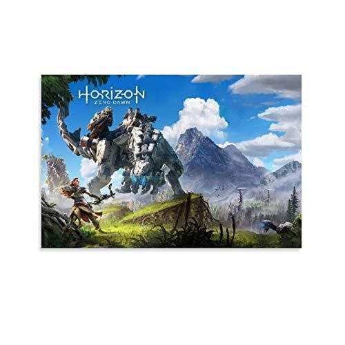 pidai Póster de juego Horizon Zero Dawn para habitación, póster estético, lienzo decorativo para pared, sala de estar, dormitorio, 20 x 30 cm