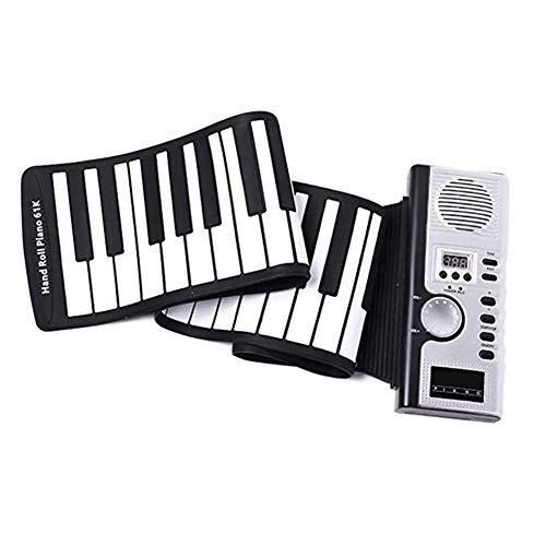 Sale!! QAQWER 61 Keys Folding Hand Roll Piano Silicone Portable Piano MIDI Folding Electronic Piano ...