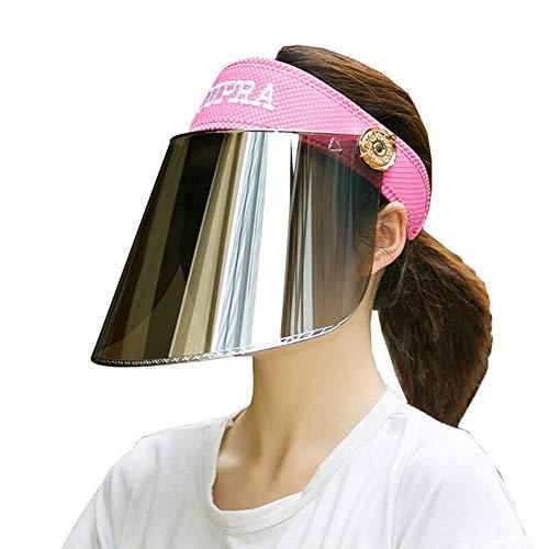 ZX-cappello Da Sole Cappello A Cilindro Vuoto Cappello Visiera Protezione UV Regolabile Escursionismo Golf All'aperto (Colore : T3, Dimensioni : One Size)