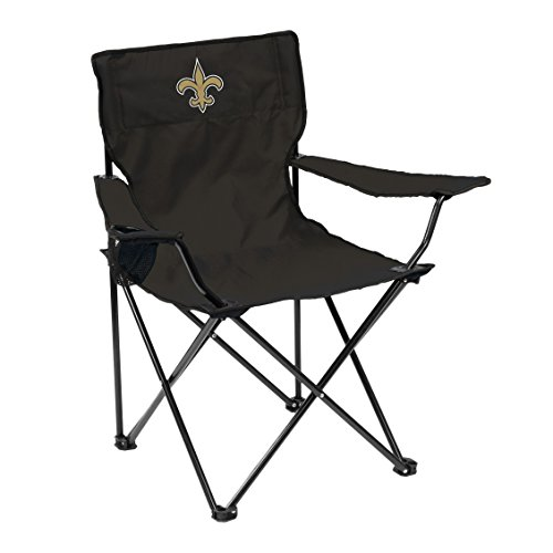 Logo Brands Officially Licensed NFL Unisex Quad Chair, One Size, New Orleans Saints