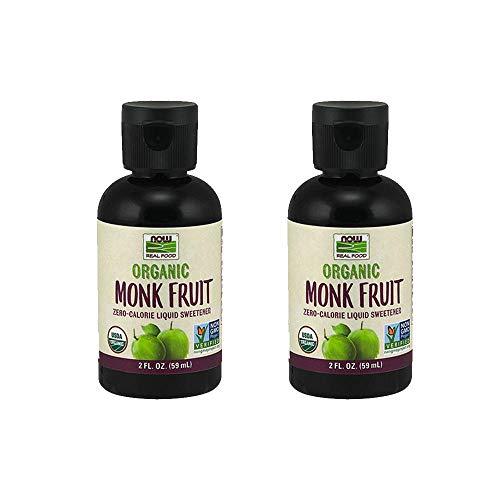 NOW Foods Monk Fruit Liquid Organic, 2 Fluid Ounce (2 Pack)