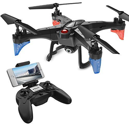 ScharkSpark Drohne mit Kamera Live Video 720P HD Abnehmbarer RC Quadcopter mit 2 Batterien 2.0MP FPV WiFi 2.4GHz 6-Achsen-Gyro Headless-Modus Höhe Halten Sie eine Taste Return
