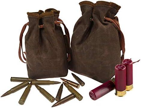 Drawstring Ammo Pouch Tactical Ammunition Magazine Belt Bag for 30 06 Cartridge Bag Rifle Shotshell product image