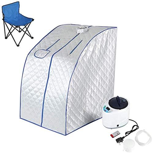 DFEDCLL Cabina de Sauna - Cabina de Calor móvil para Mini Sauna de Vapor, para el hogar con Silla Plegable 98.5x84.5x72 cm
