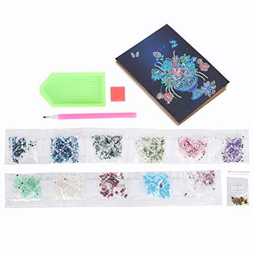 Álbum de fotos de pintura de diamante DIY hecho a mano Flores de estilo europeo Fotoalbum Regalo, Kits de taladro completo de pintura de diamante para adultos
