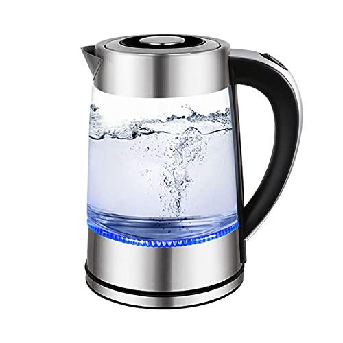 Hervidor de Agua Eléctrico, Hervidor de Cristal con Control de Temperatura y Función de Mantener Caliente, Hervidor de Agua Eléctrico 1,8 litros, Libre de BPA, 2200W