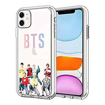 BTS Phone Case for iPhone 7 Plus/iPhone 8 Plus Cute Pattern iPhone 7 Plus/iPhone 8 Plus Case for Men/Women/Girl/Boy Soft TPU Cool Trendy Gift Cover Clear Case  BTS-7